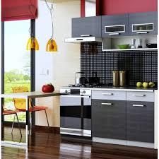 meuble de cuisine noir cuisine complète topaze noir 1m60 4 meubles achat vente cuisine