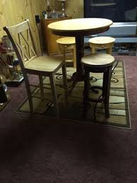 Bar Height Table With Chair Stool Maple For Sale In Flint