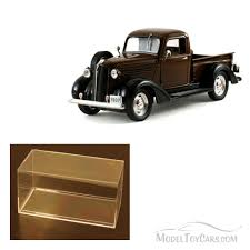 100 1937 Plymouth Truck Diecast Car Accessory Package Pickup Brown