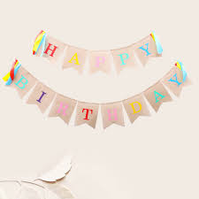 Details About Happy Birthday Letter Banner Practical Flags For Birthday Party Decorating