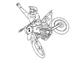 Dirt Bike Coloring Pages Lovely Line Drawing At Getdrawings Of