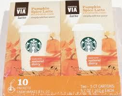 Pumpkin Spice Frappuccino Recipe Starbucks by Amazon Com Starbucks Via Pumpkin Spice Latte Instant Coffee 10