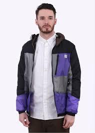 penfield cranford colourblocked jacket black multicolour
