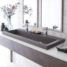 delightful trough double basin nativestoneacae bathroom sink