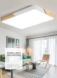 48w led deckenleuchte rechteckig deckenle dimmbar mit fernbedienung led flurle küchele wohnzimmer schlafzimmer büro holz metall