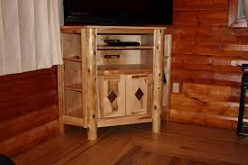Corner Rustic Entertainment Centers