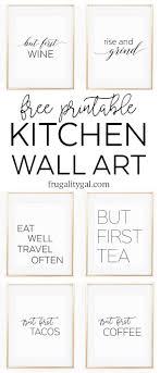 Kitchen Gallery Wall Printables Free Printable Art Apartment Decor Ideas Black And White