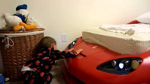 Corvette Toddler Bed by First Time Seeing His Corvette Bed Youtube