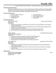 Examples Of A Job Resume Template