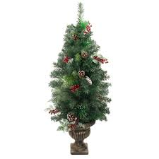 4 Ft Pre Lit Potted Christmas Tree by 60