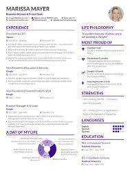 Recreating Business Insiders CV Of Marissa Mayer Using AltaCV