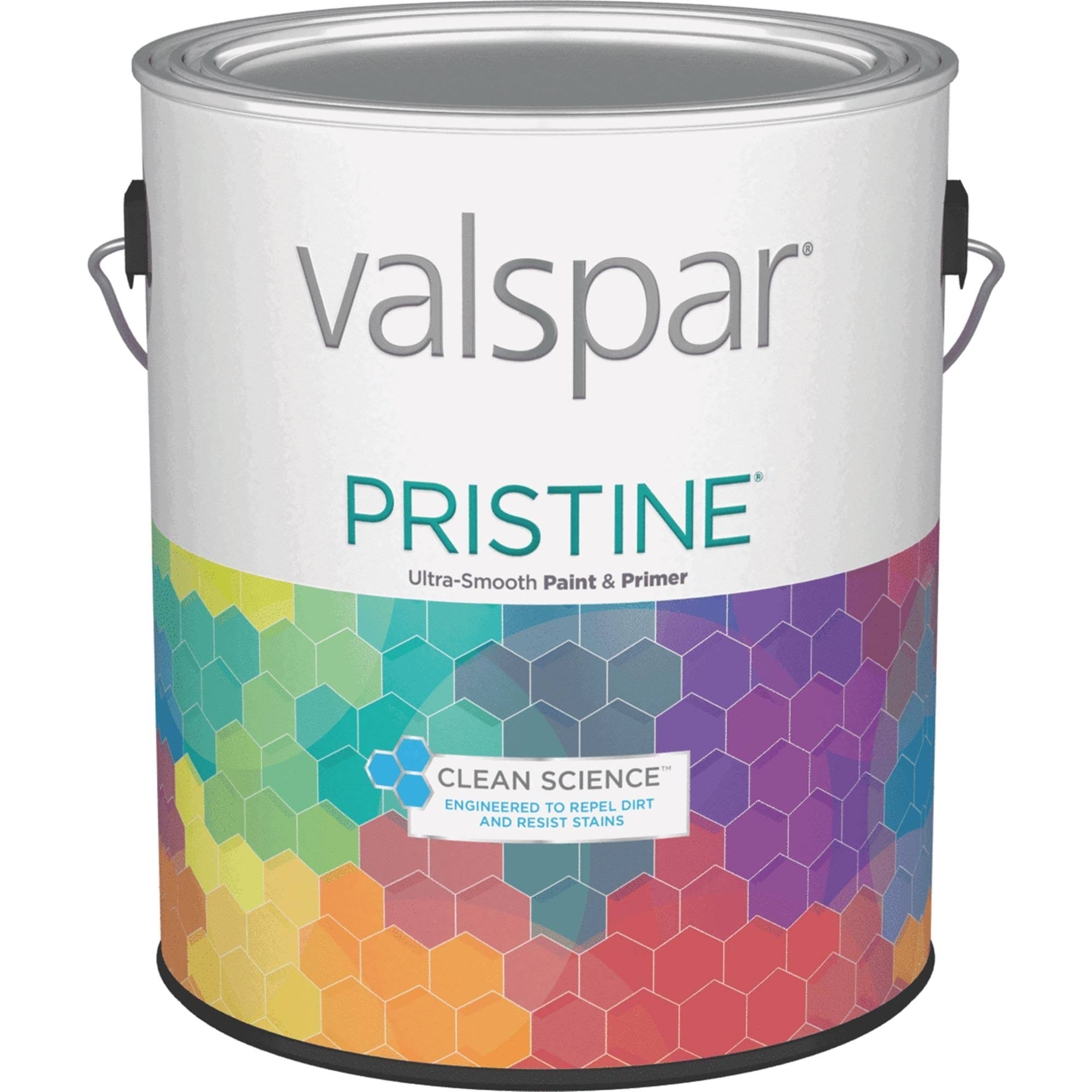 Valspar Pristine 100 Acrylic Paint and Primer Matte Interior Wall Paint - White, 1gal