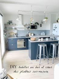 meuble cuisine diy diy habiller un bar et créer des plinthes sur mesure avec du mdf