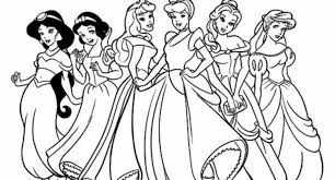 Disney Princes Coloring Pages Pertaining To Inspire