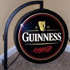 Vintage Outdoor Guinness Light Sign Used Condition For Sale in