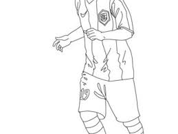 Lionel Messi Playing Soccer Coloring Pages Hellokidscom