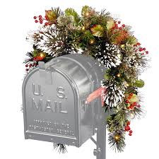 3ft Pre Lit Berry Christmas Tree by Amazon Com National Tree 3 Foot Wintry Pine Collection Mailbox