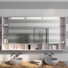 led bad spiegelschrank mit fächern smilla