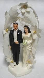 Vintage Chalk Bride And Groom Wedding Cake Topper