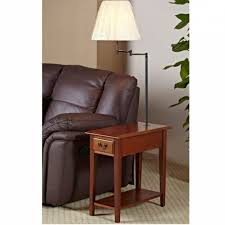 Floor Lamp With Attached End Table by End Tables With Lamps Attached Duo Side Table Floor Lamp Side