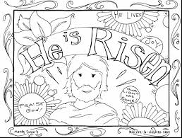 Impressive Easter He Is Risen Coloring Pages With Free Printable