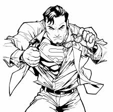 Superman Transformation Coloring Pages