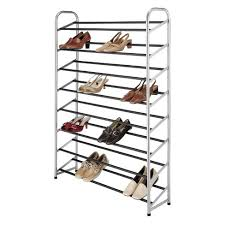 Epoxy 40 Pair Metal Shoe Rack Silver Tar