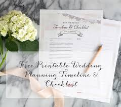 Free Printable Wedding Planning Timeline Checklist