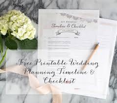 Free Printable Wedding Planning Timeline Checklist