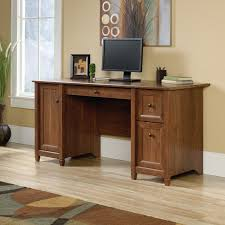 Sauder Shoal Creek Desk by Sauder Edge Water Executive Desk Estate Black Hayneedle