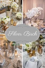 Add Splendor with Silver Birch Scheme Silver Wedding Decorations
