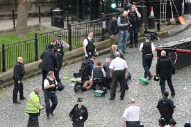 Pictures From The Scene Show Emergency Services Treating Suspected Terrorist On Pavement