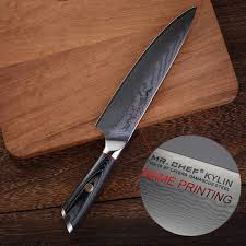 Kitchen Knives Names Professional 8inch Damascus Chefs Knife Customized Engraved Stainless Steel Vg10 Kitchen Cutlery Gift With Name Logo Printing