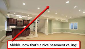 trendy drop ceiling in basement ceilings or drywall the age