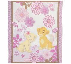 baby crib bedding lion king 3piece set nursery girls purple