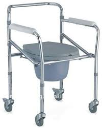 Handicap Toilet Chair With Wheels by Commode Chair