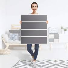 folie für möbel ikea malm kommode 4 schubladen design grau light