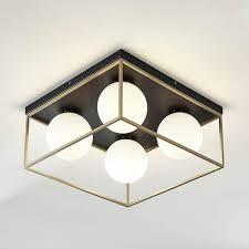 leuchten leuchtmittel design deckenleuchte 4 glaskugeln