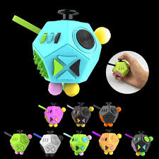 12 Sided Fidget Cube Anti Anxiety Toy Relieves Stress Increase Focus