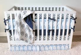 Baby Boy Crib Bedding Blue Elephant Nursery Set – Giggle Six Baby