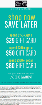 Saks Fifth Avenue OFF 5TH Coupons - $25=$80 Gift Card On Money Saver Extra 20 Already Ruced Price At Saks Off Saint Laurent Bag Fifth Arisia 20 January 17 Off 15 Off 5th Coupon Verified 27 Mins Ago Taco Bell Discounts Students Promotion Code For Bookitzone Paige Denim Promo Ashley Stewart Free Shipping Coupons Katie Leamon Coupon Best Apps Food Intolerances Avenue Purses On Sale Scale Phillyko Korean Community In Pa Nj De Women Handbags Ave Store St Louis Zoo Safari Pass 40 Codes Credit Card Electronics Less