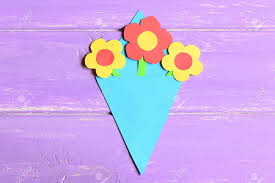 Making Paper Flowers Crafts For Mothers Day Or Birthday Step Preschool Art Lesson