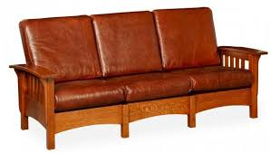 mission style upholstered furniture in oak maple or cherry