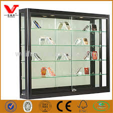 Wall Glass Display Showcase Design Low Price Cell Phone Display
