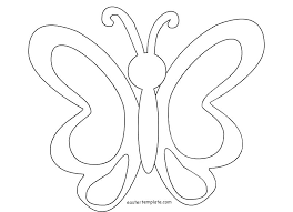 Free Butterfly Coloring Pages Simple Page