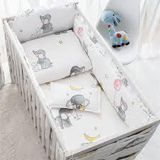 6 9 stücke elefanten baby bettwäsche krippe schutz baby schlafzimmer kleinkind zimmer bett stoßstange komfortable kinderbett protector 120 60 120 70cm
