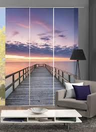 home wohnideen schiebegardine puente blickdicht digital bedruckt