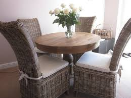 Solid Wood Dining Table & 4 Rattan High Back Chairs 18 Months Old. | In  Lincoln, Lincolnshire | Gumtree
