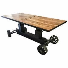 esstisch esszimmer tisch massiv holz mango industrie design dining crank table