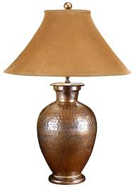 Wildwood Antique Copper Hand Hammered Pot Buffet Table Lamp